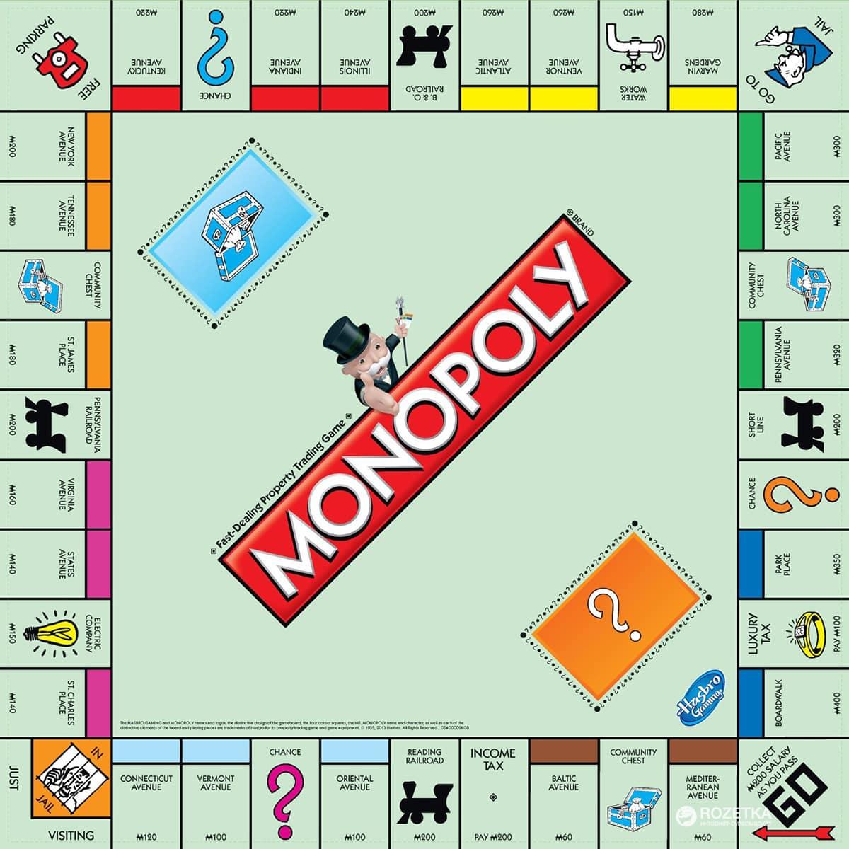 сколько денег должно быть в игре монополия всего